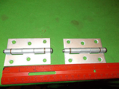 Pair Of Vintage Aluminum Hinges 3 Inches Tall 2 Inches Wide Ideal 32