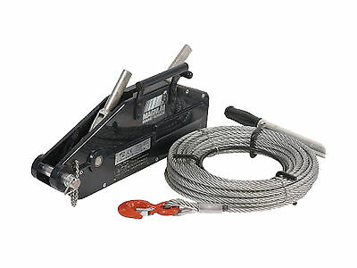 3,520 lbs. 1,600Kg Lever Wire Rope Puller Hoist 65 ft wire rope PWUZ1600
