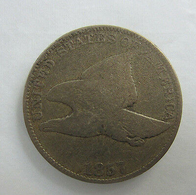 1857 Flying Eagle Cent -- Free Shipping *
