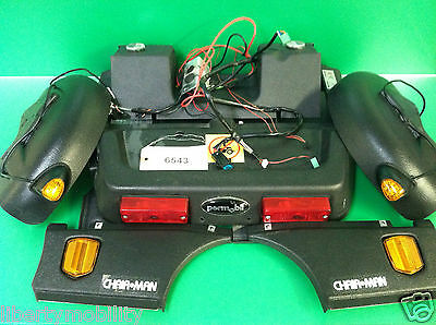 Permobil Chairman  Body Cover Shroud w/ Front & Rear Lighting System  #6543