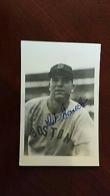 dick gernert auto postcard red sox vintage