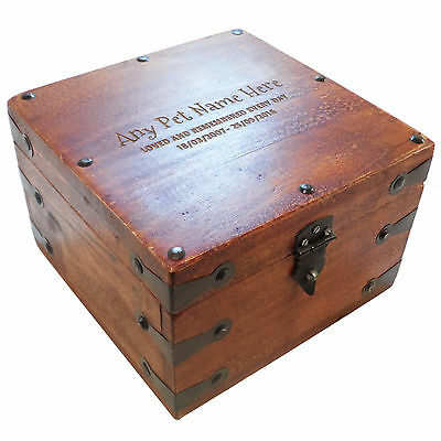 Large Remembrance Wooden Pet Urn Cremation Ashes Cat Dog Ash Box Personalised