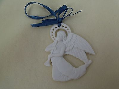 Wedgewood White Jasper Angel Ornament