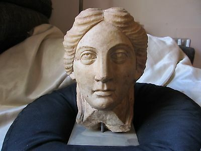 Revival Carving of a marble Roman head
