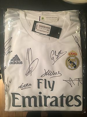 Authentic Real Madrid Signed Home Shirt 2015/16