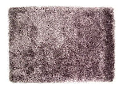"""Large Quality Thick Shaggy Rug in Smoky Mauve 120 x 170 cm (3'11 x 5'7"""") Carpet"""