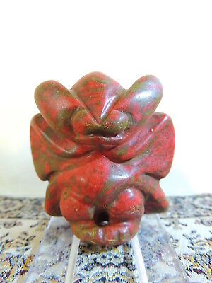 Antique Mongolian Neolithic Mythological stone figure  pendant ,idol,god ,alien