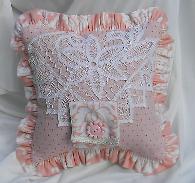 NWOT Girl's Tooth Fairy Cotton Pillow with Vintage Lace & New Fiber Filled