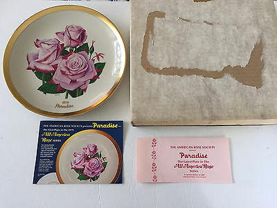 1979 Paradise All-American Rose Selections Commemorative Collector Plate