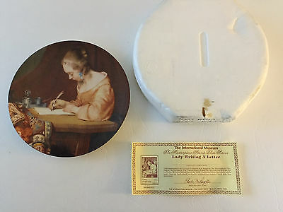 """1984 """"Lady Writing a Letter"""" Masterpiece Series Collector Plate"""