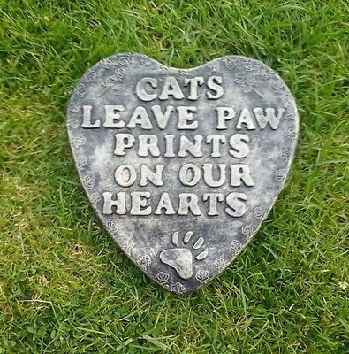 Cat memorial cats leave paw prints on our hearts.pet memorial. Grave marker r