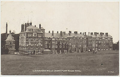 Edwardian Postcard - Llandrindod Wells, Grand Pump House Hotel 1910