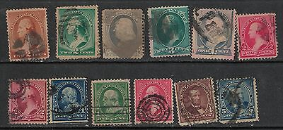 1880-84 12 different old Presidents cancelled