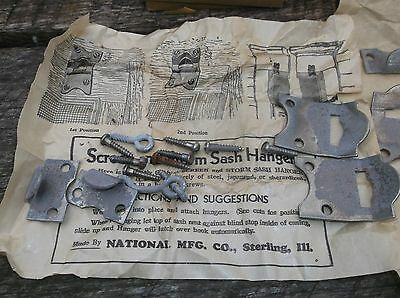 National Vintage Screen Storm Sash Hangers 36 Sets  Orig Box Nos New Old Stock