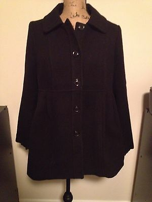 Oh baby By motherhood Black Peacoat Maternity Coat Jacket Size Medium