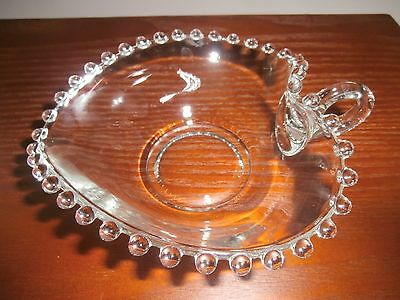 Candlewick handled candy dish