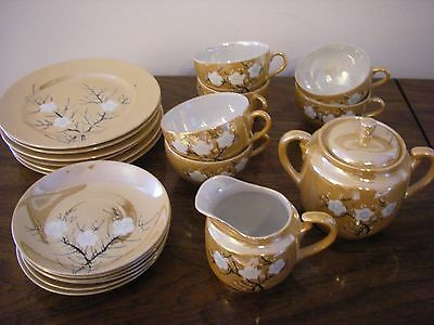 VINTAGE 21-PIECE CHINA TEA SET, MADE in JAPAN - Original Condition!!!