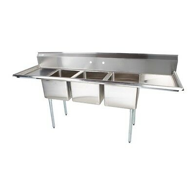 Three Compartment Sink w/2 Drainboards