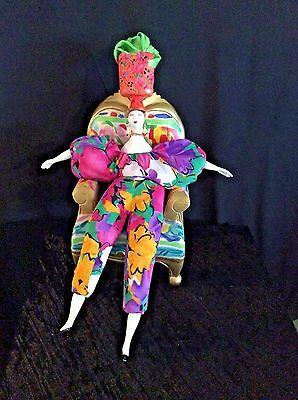 Rare Large Poupee Millet Doll & Large Chair Made in France