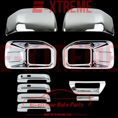 15-16 FORD F150 Chrome Cover Fog Lamp 2 Mirror 4 Door Handle 1 Tailgate W/O Cam