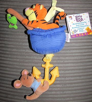 New Disney  Winnie The Pooh Musical Pull Down Baby Toy