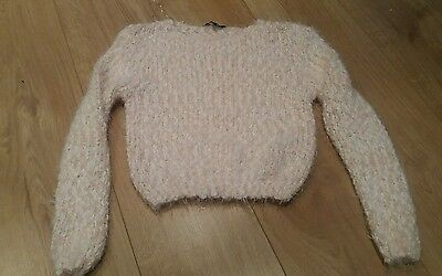 new look pink jumper age 10-11 years