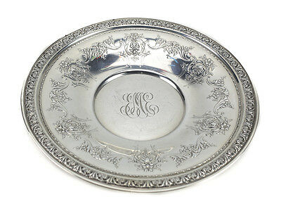 Gorham Sterling Silver Sandwich Plate in King Edward, Hand Chased Floral Swags