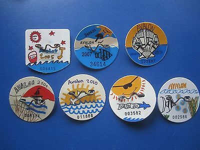9  Year  Collection   Avalon   New  Jersey Beach Badges/tags