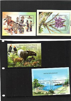 MALAYSIA 2002-4 Miniature Sheets unm mint n/h