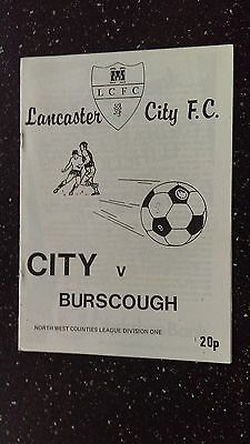Lancaster City V Burscough 1982-83