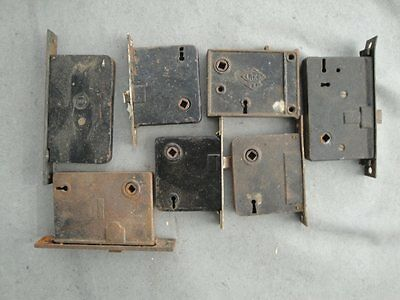 LOT OF 7 Vintage Door Locks Hardware Household SKILLMAN, RHC, RE