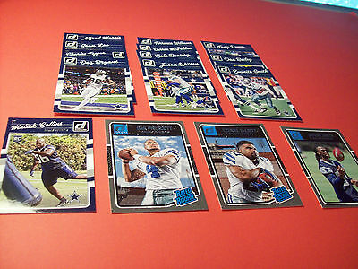 Dallas Cowboys 2016 Donruss team set, Dak Prescott,E. Elliott rookie