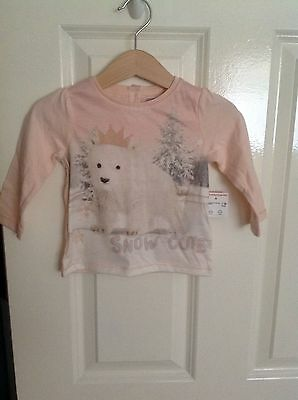Baby Girls Christmas Long Sleeve Top Age 6-9 Months BNWT