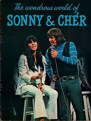 Sonny & Cher 1965 Look At Us Tour Concert Program Book / Ex 2 Near Mint