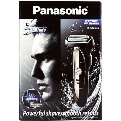 Panasonic ES-ST25 3-Blade Electric Shaver Wet/Dry for Men
