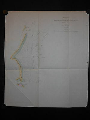 Long Island New York New Jersey Coast 1848 Map Hand Colored