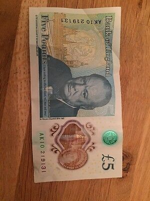 NEW Real £5 NOTE AK10 Genuine Five Pound Note AK10