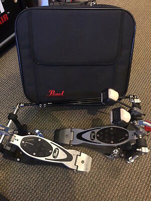 Used Pearl Eliminator Double Bass Drum Pedal with Case
