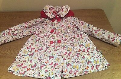 Her nobs Butterfly Print Girls Coat Fleece Lined 2-3 Yrs