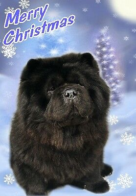 Chow Chow Dog A6 Christmas Card Design XCHOW-4 by paws2print