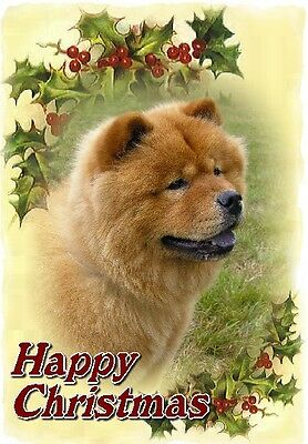 Chow Chow Dog A6 Christmas Card Design XCHOW-9 by paws2print