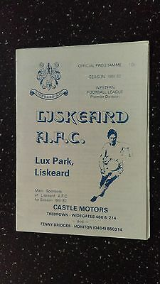 Liskeard Athletic V Clandown 1981-82