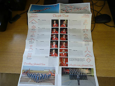 Red Arrows 1986 Fold Out Brochure