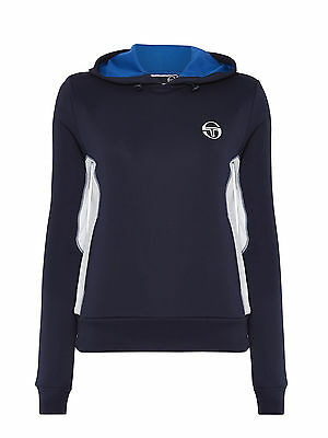 Sergio Tacchini Men's Luciano Hoody - Navy / white side panels Size: XL