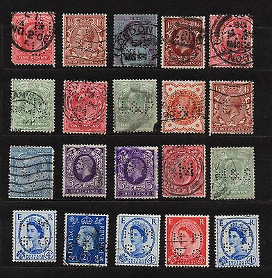 Great Britain England Postage Revenue Stamps Variety Used Collection Lot Rare