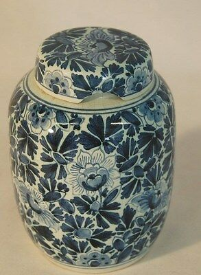 Dutch Vase blue floral design W/V