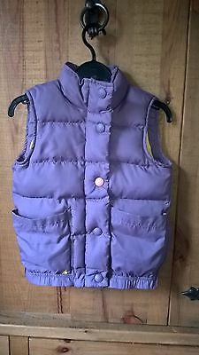 Excellent Girls Joules Gilet Age 7 Years Purple