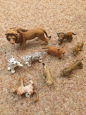 schleich lions, tigers, cheetahs, leopard assortment