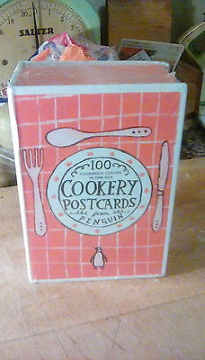 Set of Penguin cookery postcards. New in box.