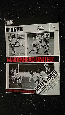 Maidenhead United V Farnborough Town 1982-83